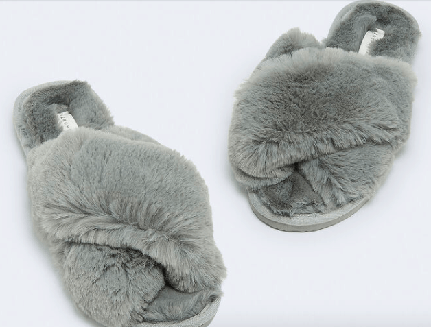 Cheap gift ideas for friends - Fuzzy slippers from Aeropostale