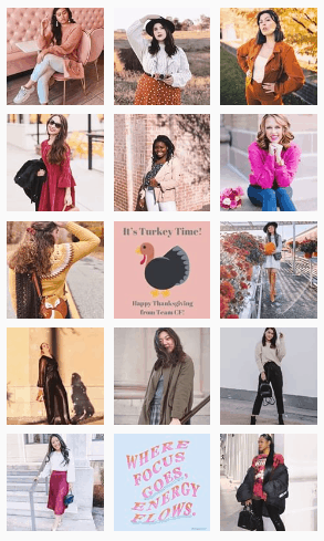 How to grow your Instagram account - Screenshot of College Fashion's Instagram profile