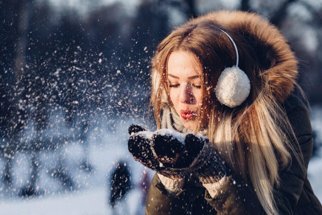 Winter break activities - girl in the snow