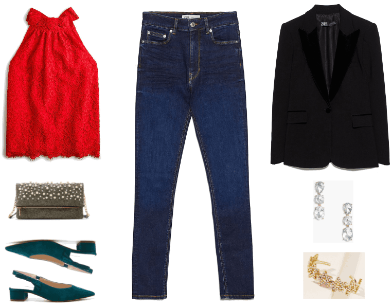 These Three Outfits Prove That You Should Wear Jeans to All of Your Holiday Parties | Outfit #2
