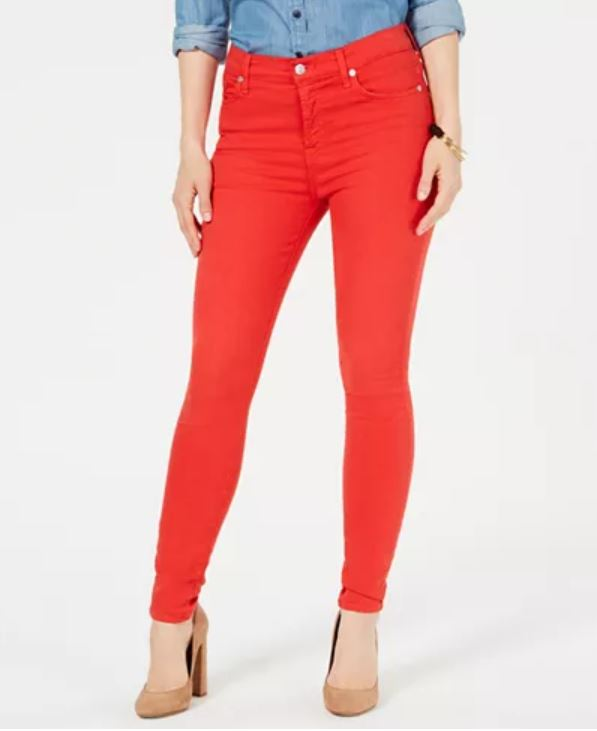 2010s fashion - skinny jeans - photo of red jeans