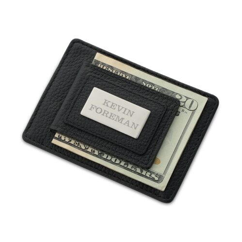 Thoughtful gifts for boyfriend - Black personalized wallet from Things Remembered