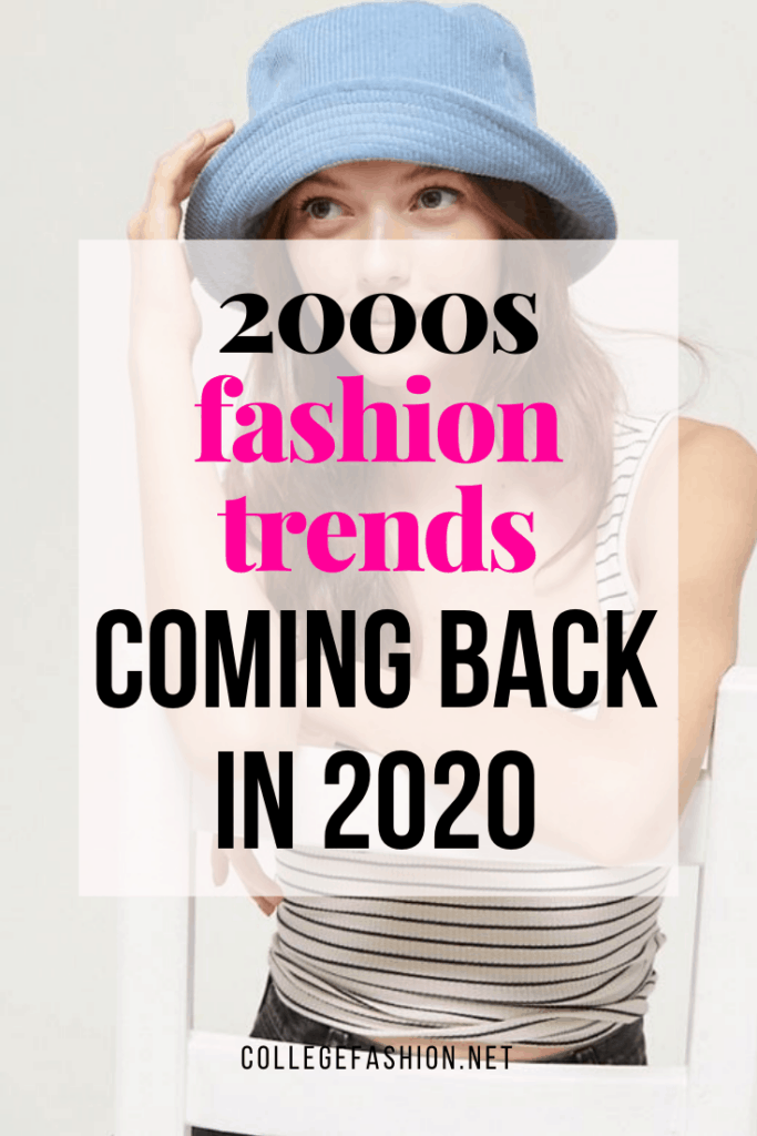 2000s fashion trends coming back in 2020 - photo of a model wearing a bucket hat
