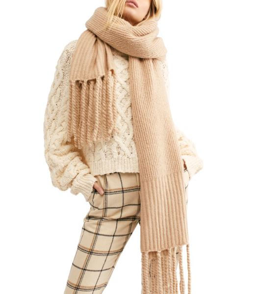 Winter accessories we love: Free People Oversized Knit Scarf at Nordstrom
