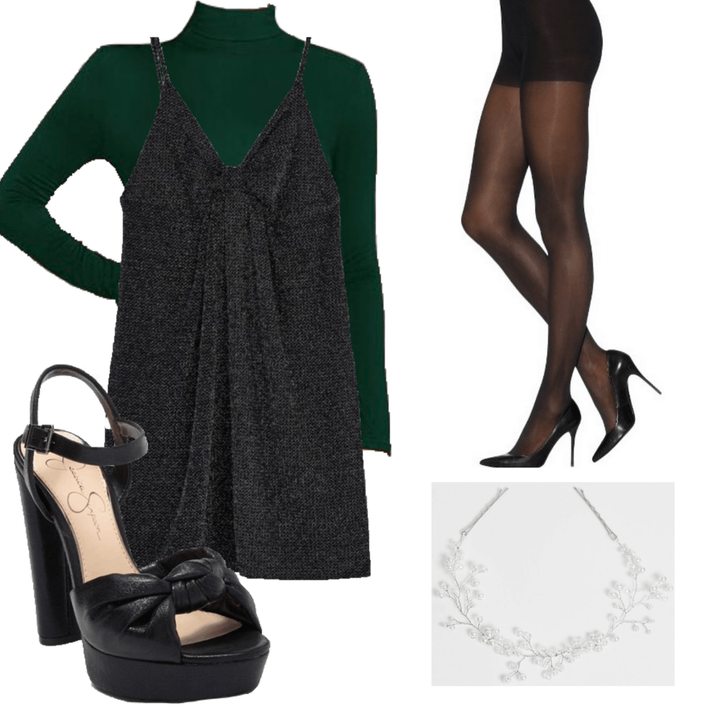 Outfit set featuring a sparkly dress