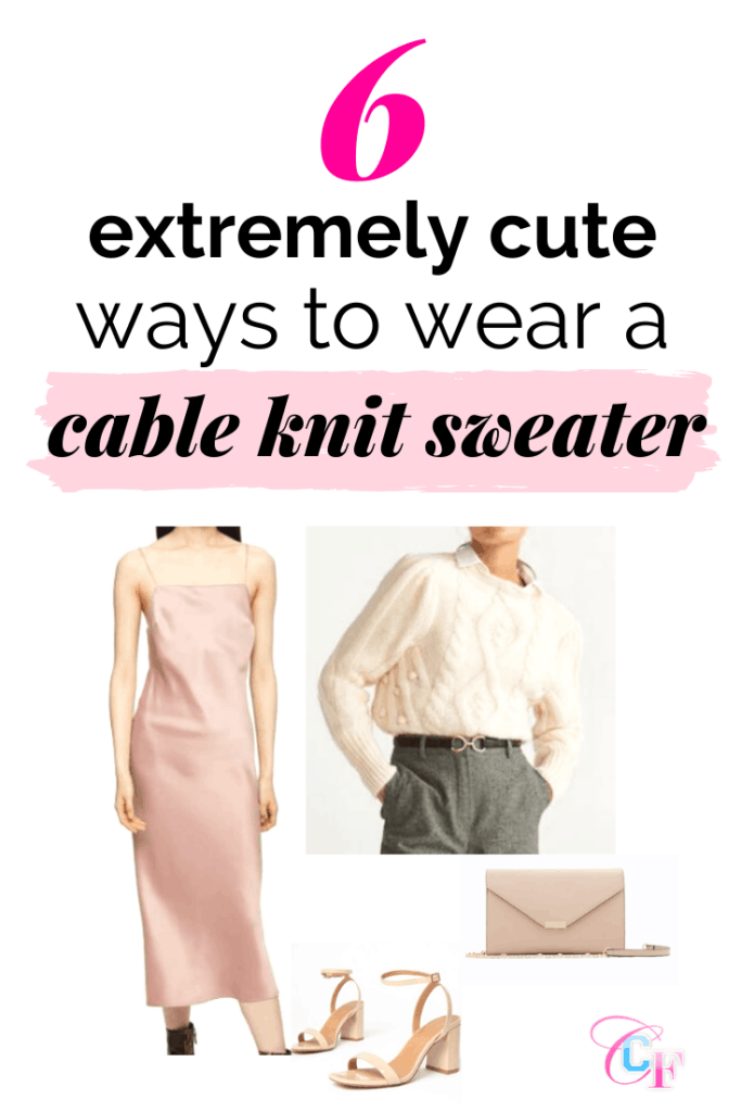 6 extremely cute ways to wear a cable knit sweater