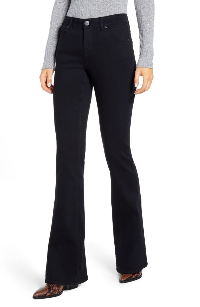 Dark wash flare jeans from Nordstrom