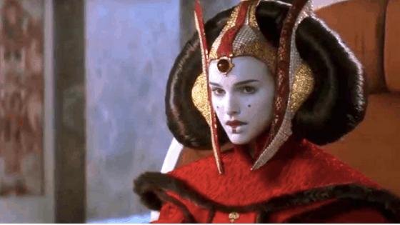 Padme Amidala as Queen Amidala in Star Wars The Phantom Menace