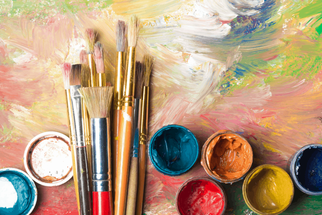 Best creative hobbies - painting - photo of paints and a canvas