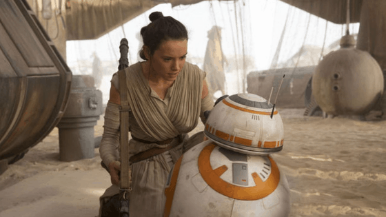 Rey outfit from Star Wars - photo of Rey wearing a wrap top and pants