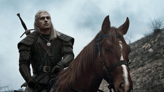 The Witcher - photo of Geralt on his horse