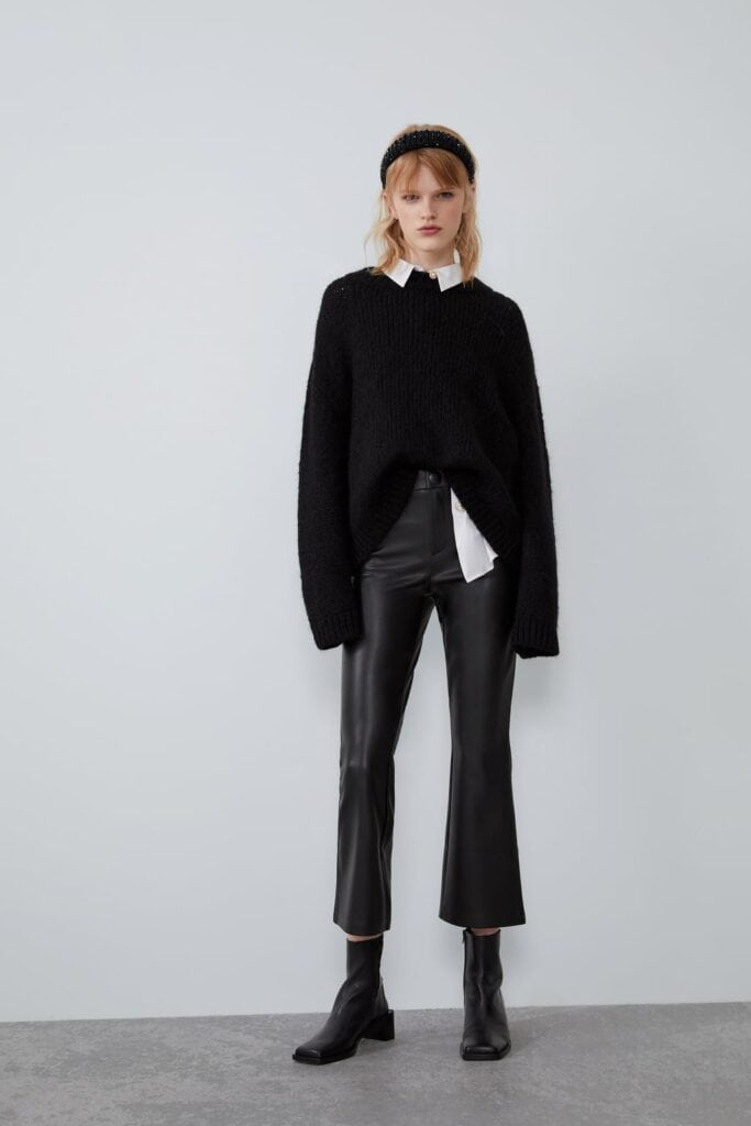 Leather flares from Zara