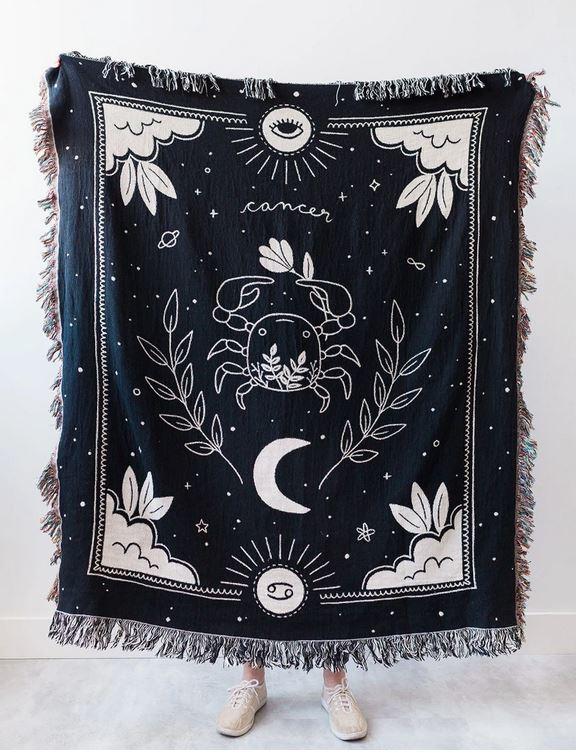Zodiac blanket.