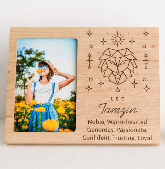 Wooden zodiac frame.