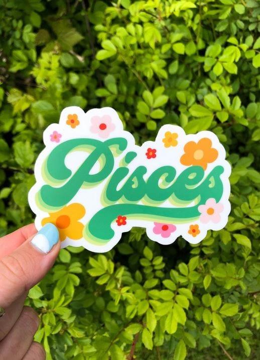Green pisces sticker.