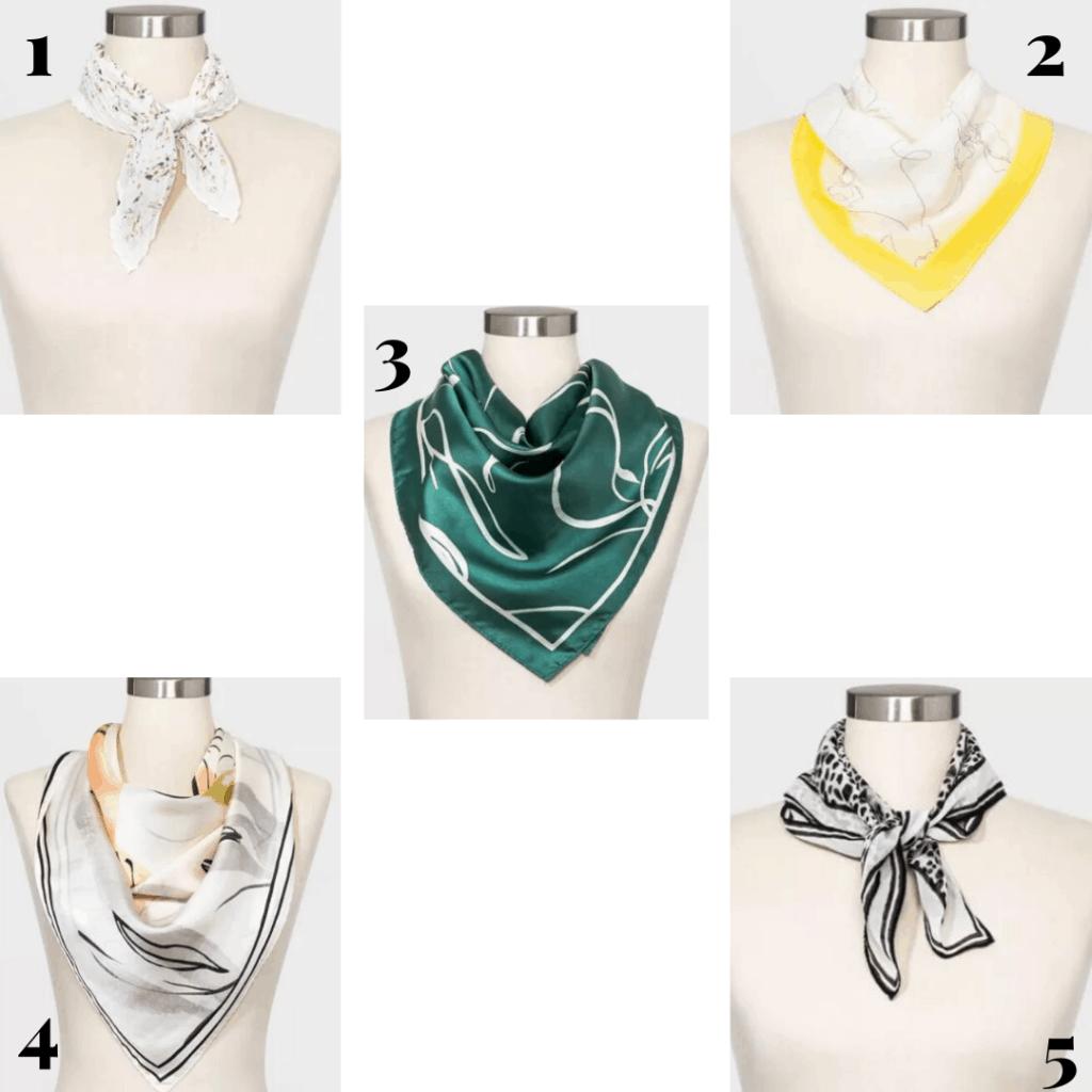 Spring scarves at Target