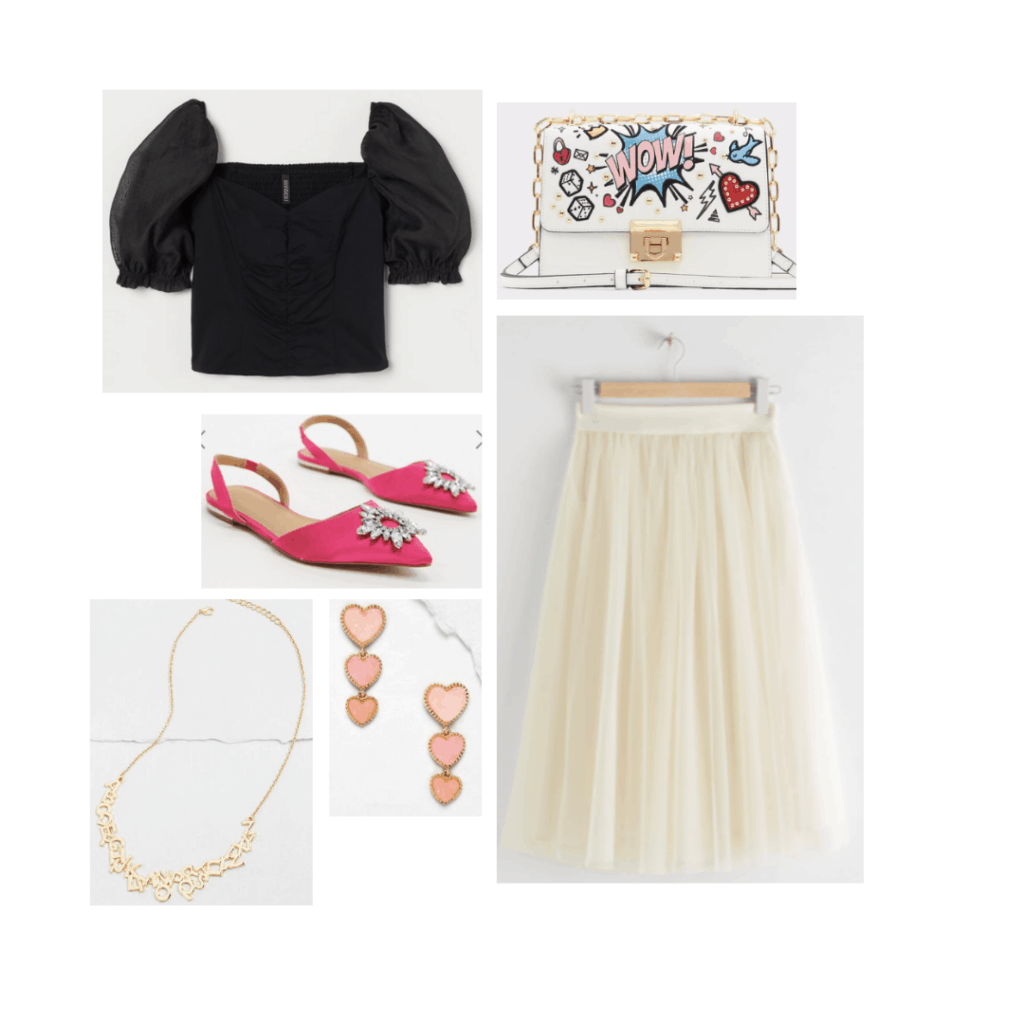 Outfit inspired by Carrie Bradshaw's style on Sex and the City