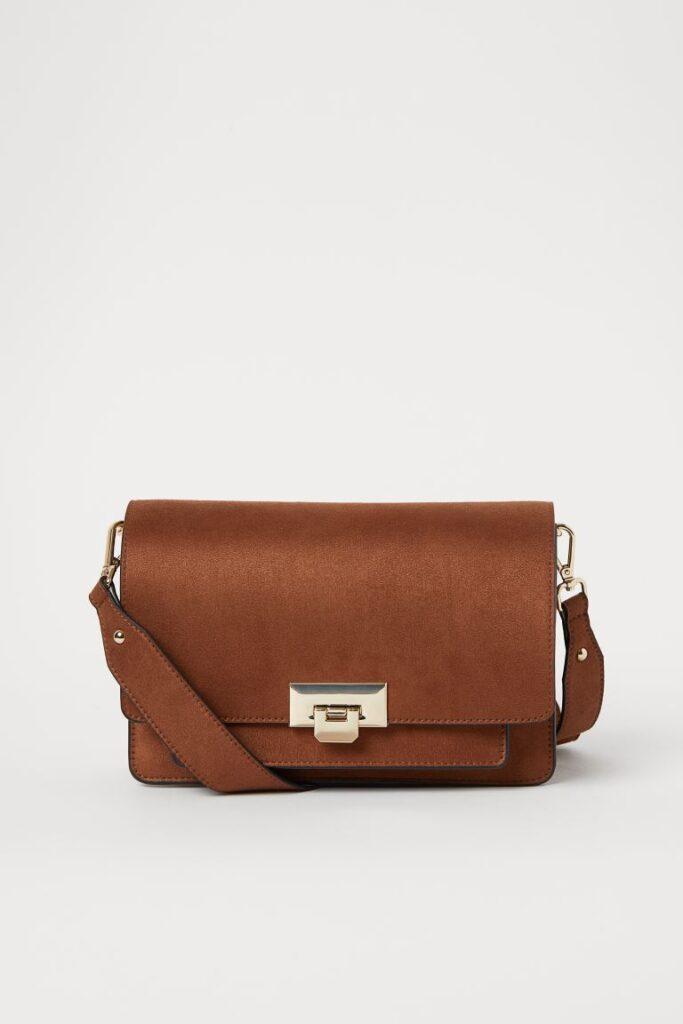 Brown shoulder bag from H&M