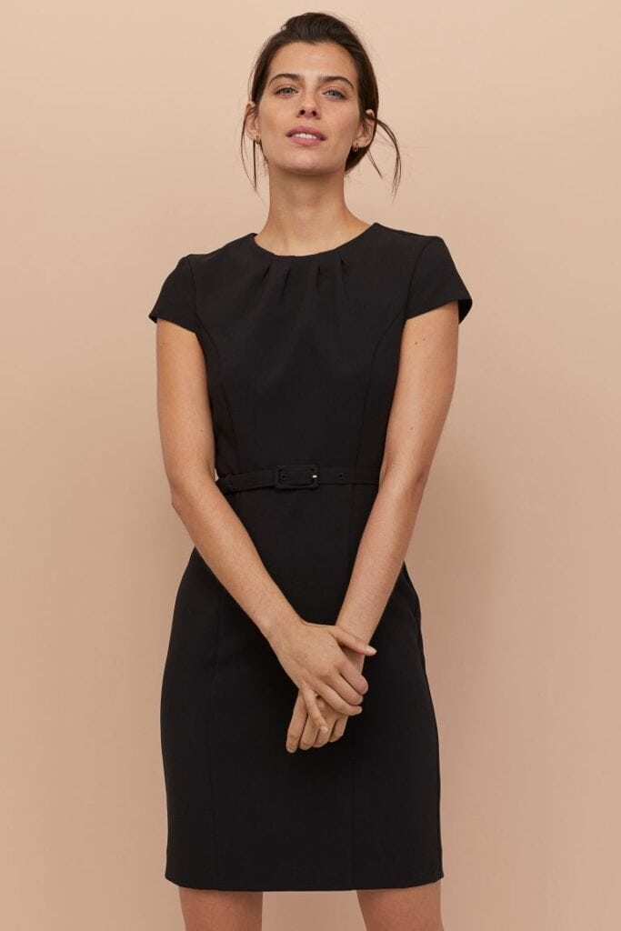 Black classic dress from H&M