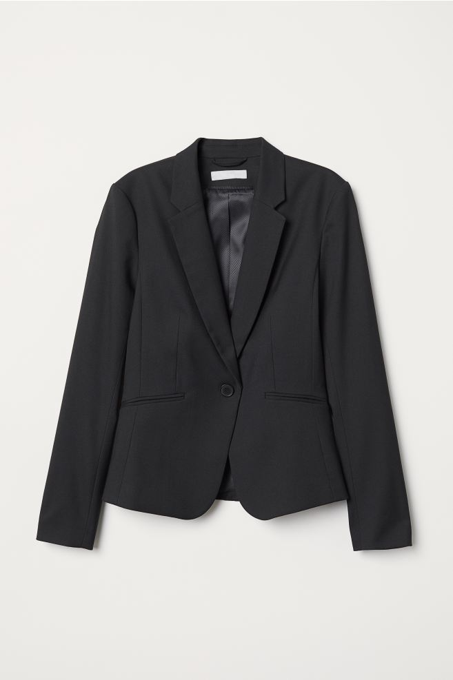 Black fitted blazer from H&M