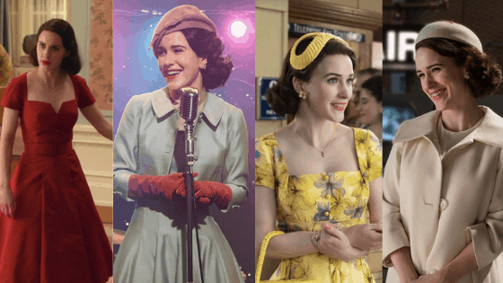 Mrs Maisel fashion: Photo of Mrs Maisel's 50s housewife outfits