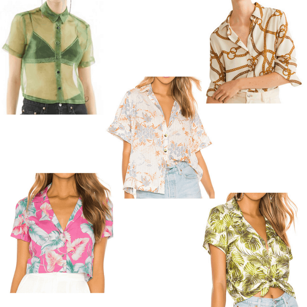 Harry styles fashion - roundup of printed button down shirts