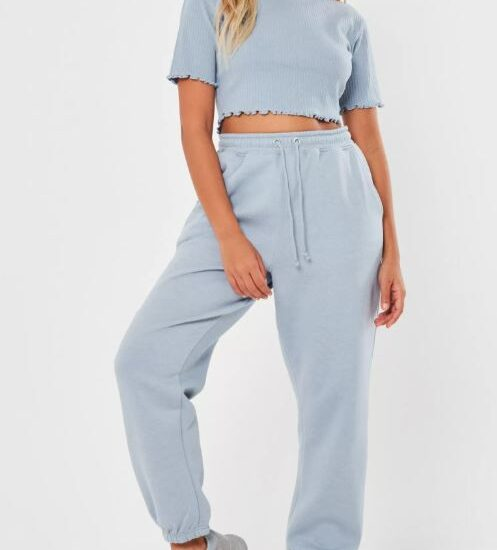 Missguided pale blue top