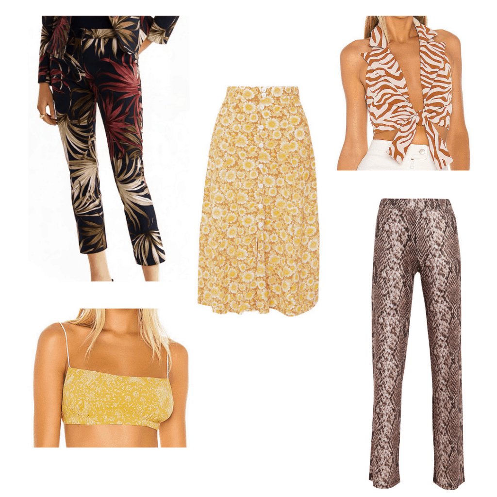Harry Styles fashion guide - roundup of printed pants inspired by Harry's aesthetic
