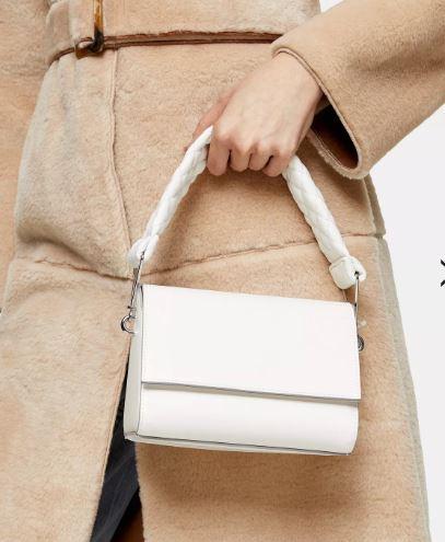 White handbag from Topshop