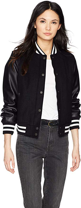 Spring 2020 trends you already own - Varsity Jacket in black