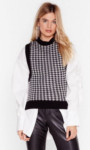 Nasty Gal sweater vest - spring trends to wear now
