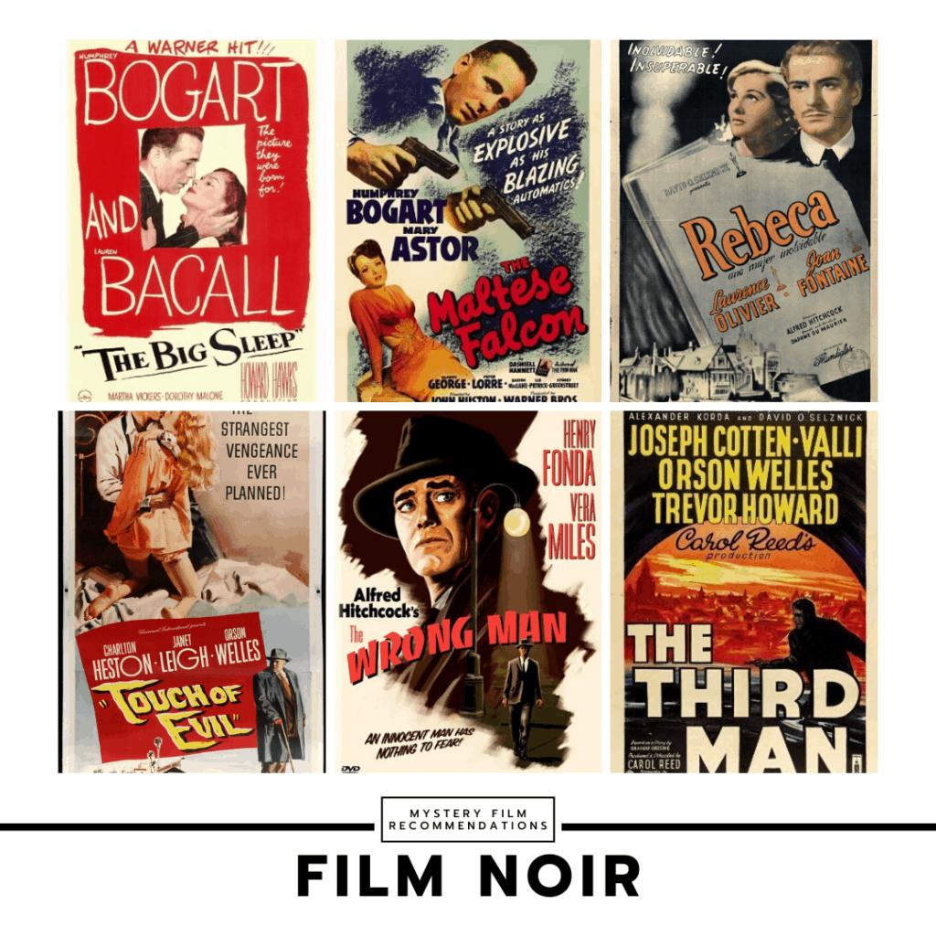 Film Noir movies collage