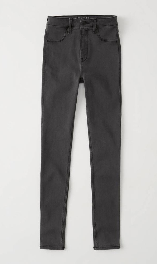 Product photo of grey jeans from A&F