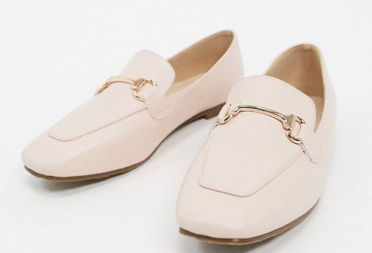 Product photo of ASOS pink loafers