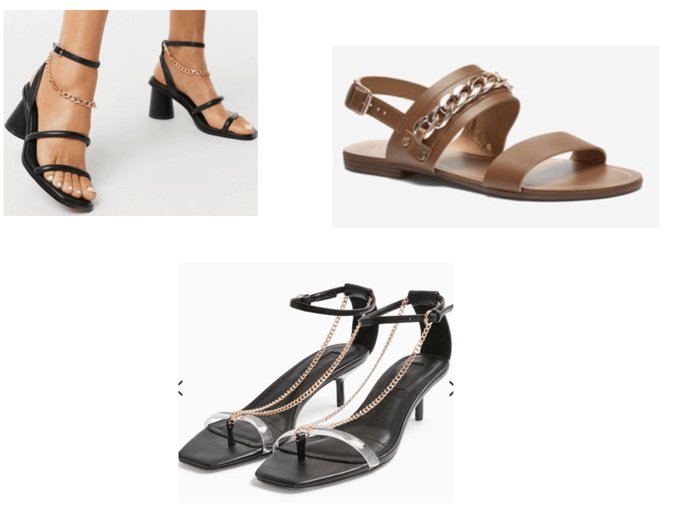 spring shoe trends 2020 - chain shoes