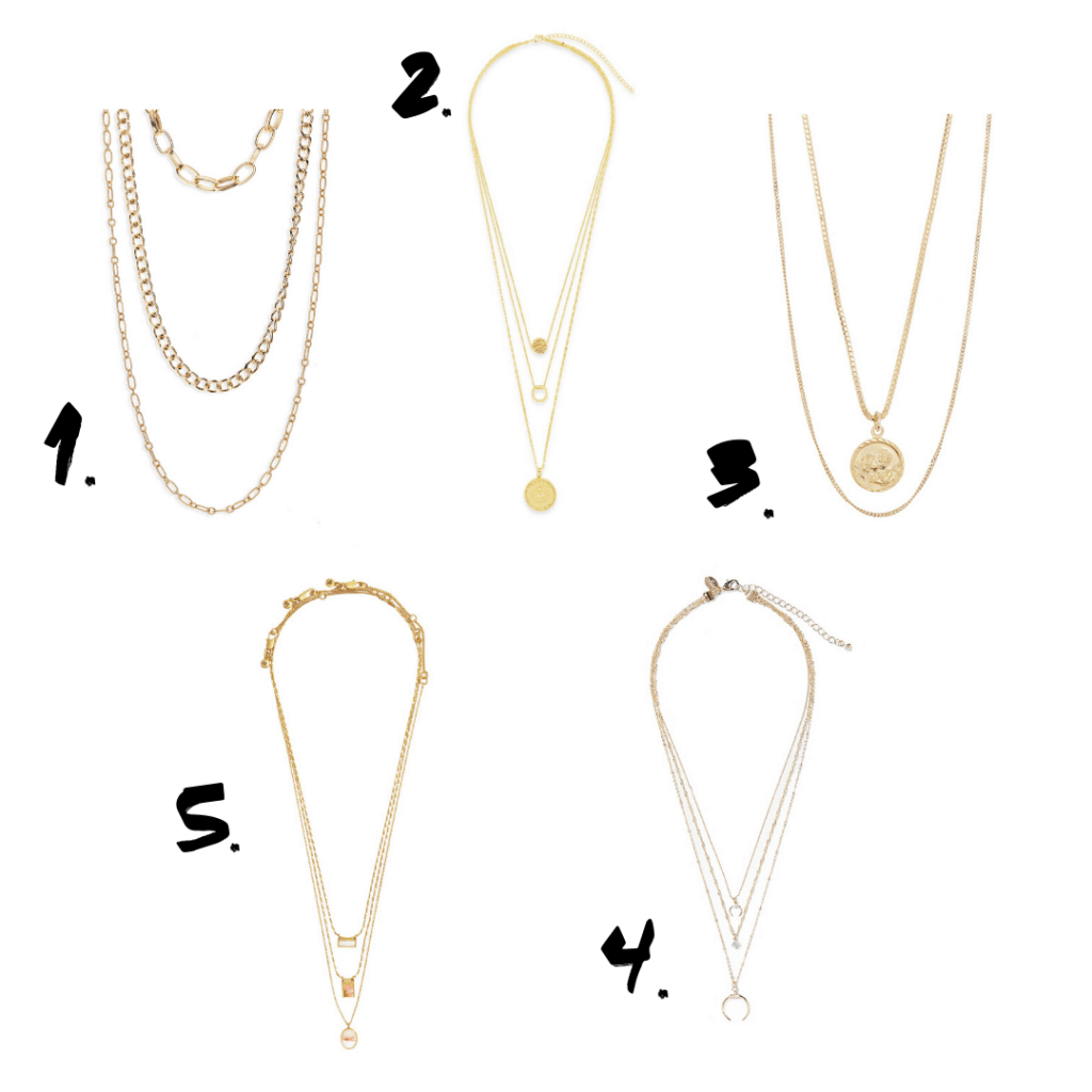 Roundup of trendy layered chain necklaces