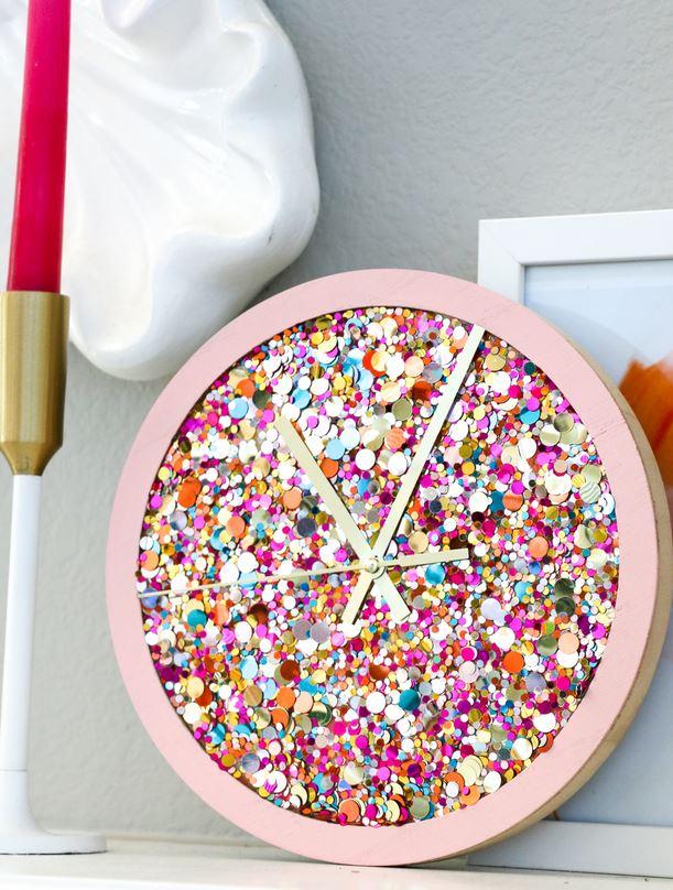 Sequin clock.