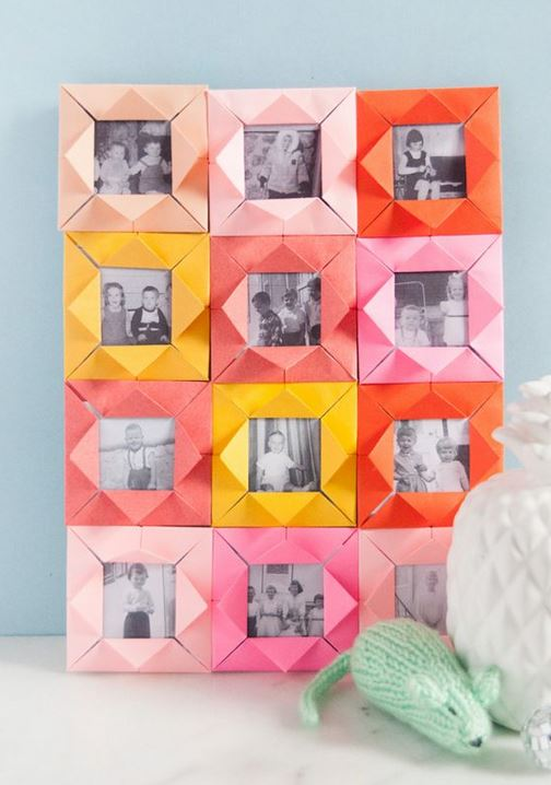 Origami photo frames.