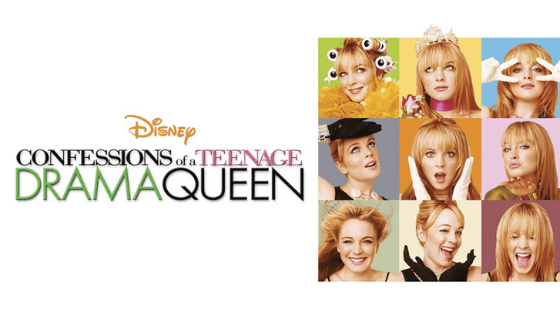 Confessions of a teenage drama queen movie logo and poster