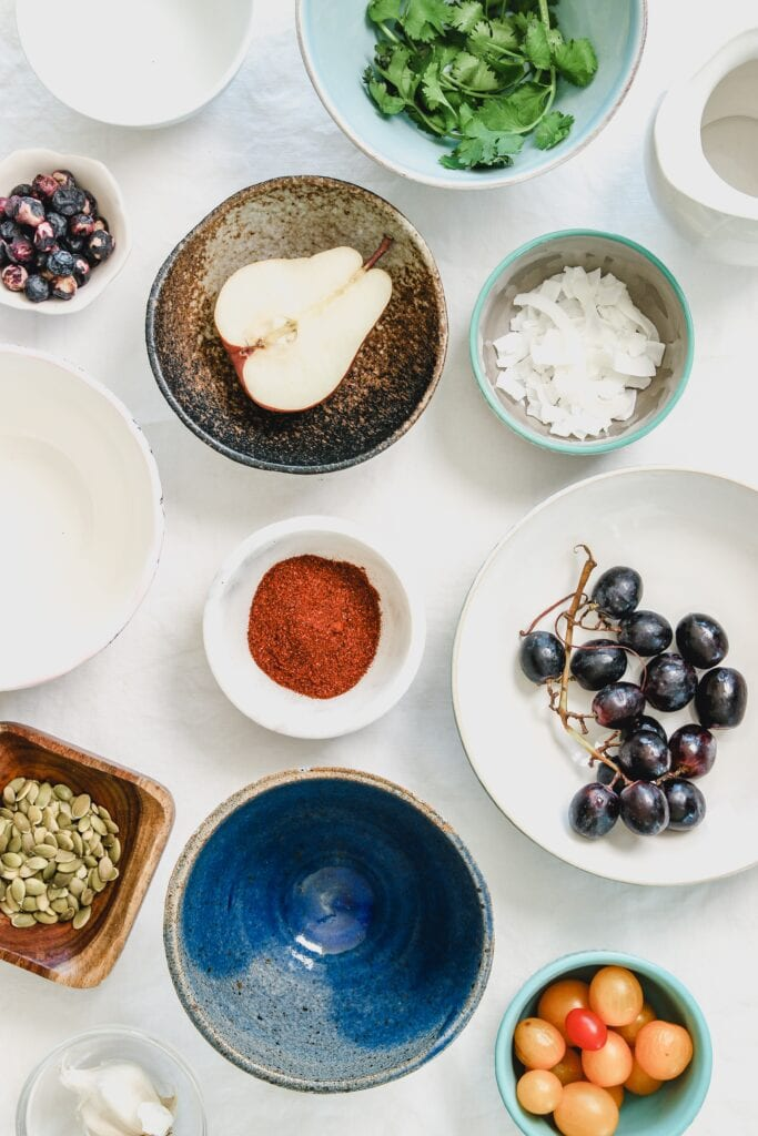 healthy foods in bowls
