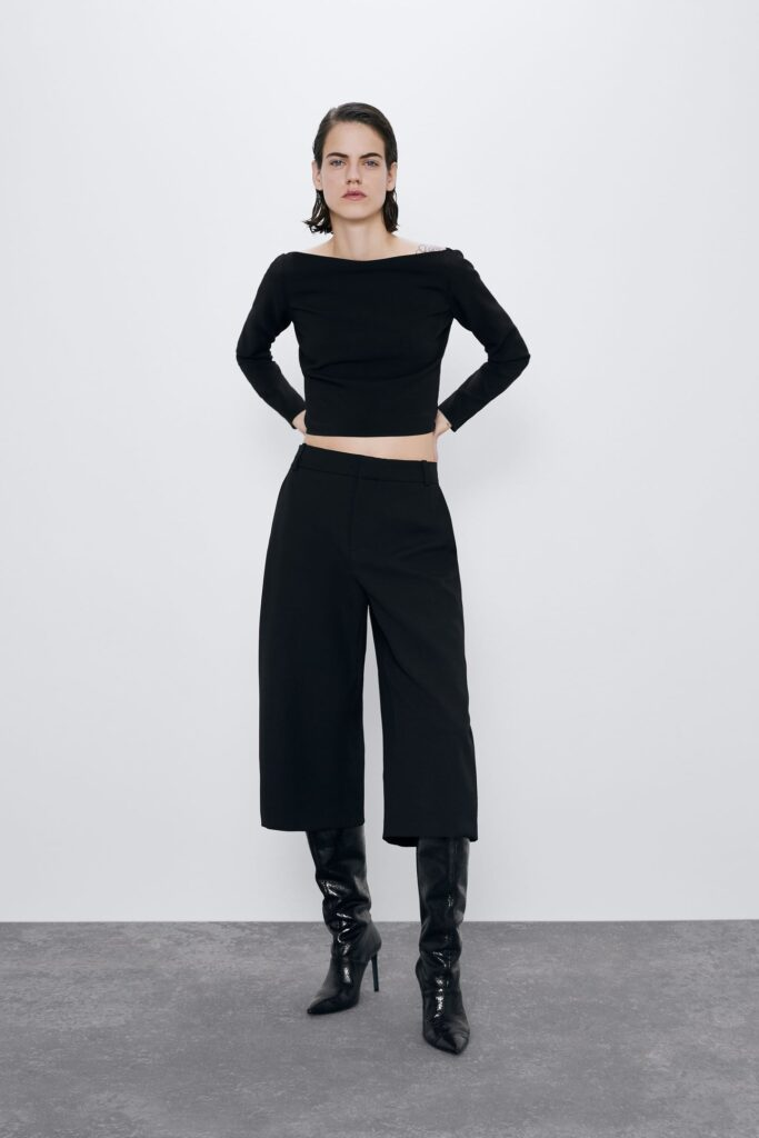 Modern basics for 2020 - Zara long black shorts