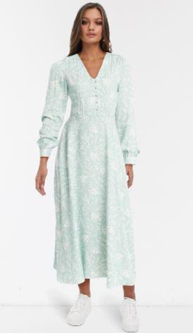ASOS blue floral midi dress