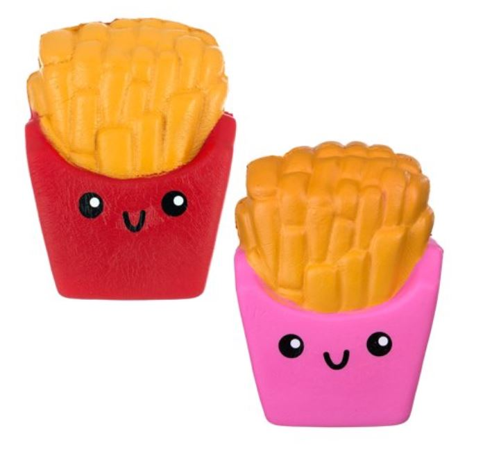 French fry stress squishies, set of two.