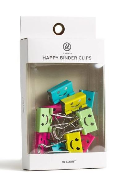 Smiling binder clips.