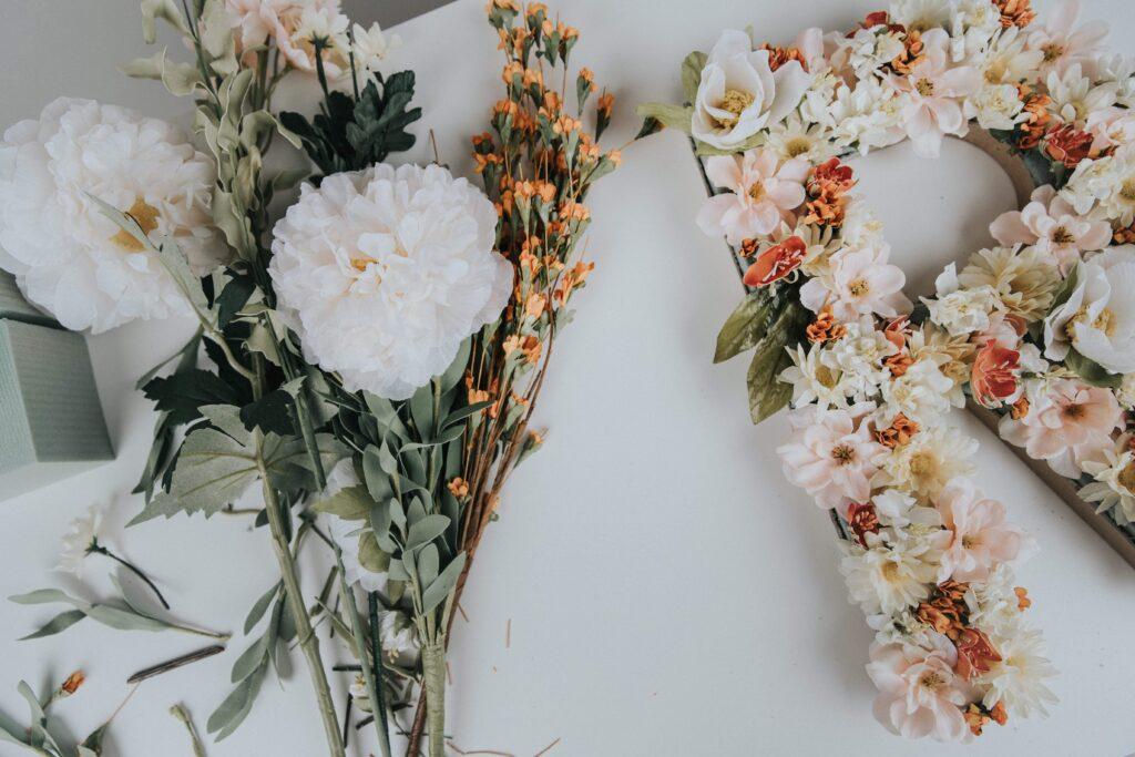 r full of faux flowers