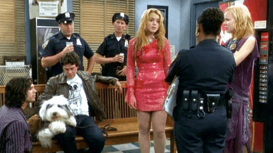Lola wearing a red dress in Confessions of a Teenage Drama Queen