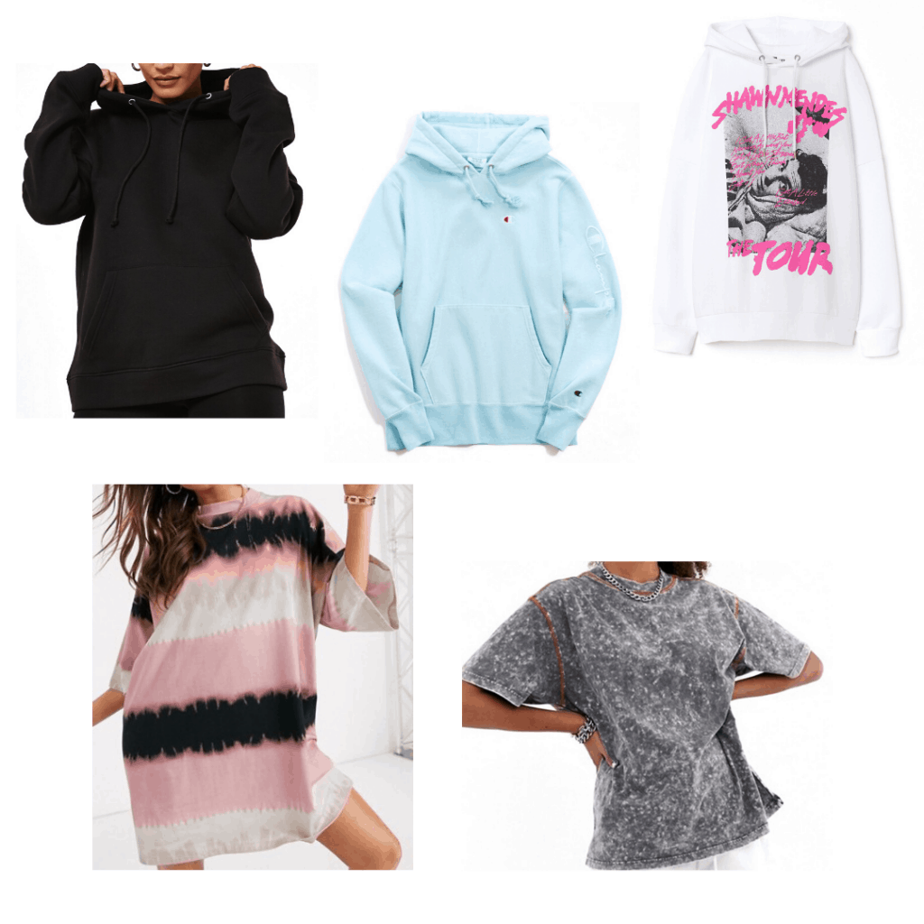 The hottest fashion trends on TikTok: Oversized hoodies and t-shirts