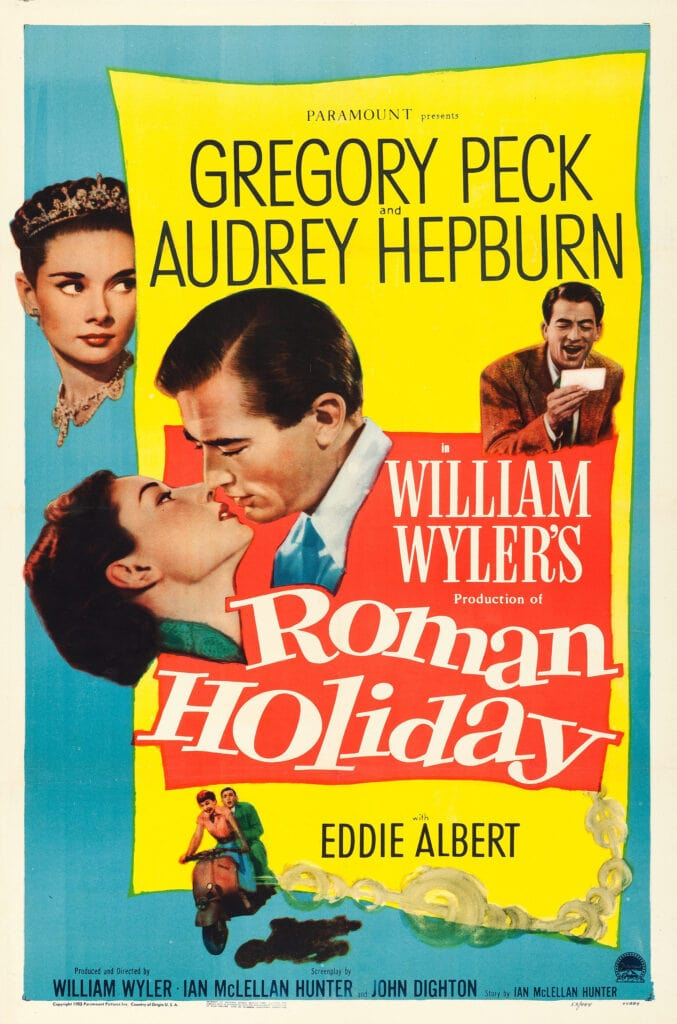 Poster for Roman Holiday film 1953