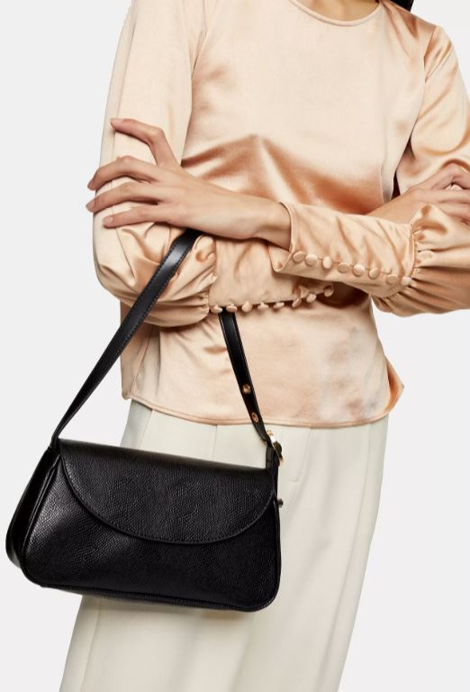 Black shoulder bag from Topshop