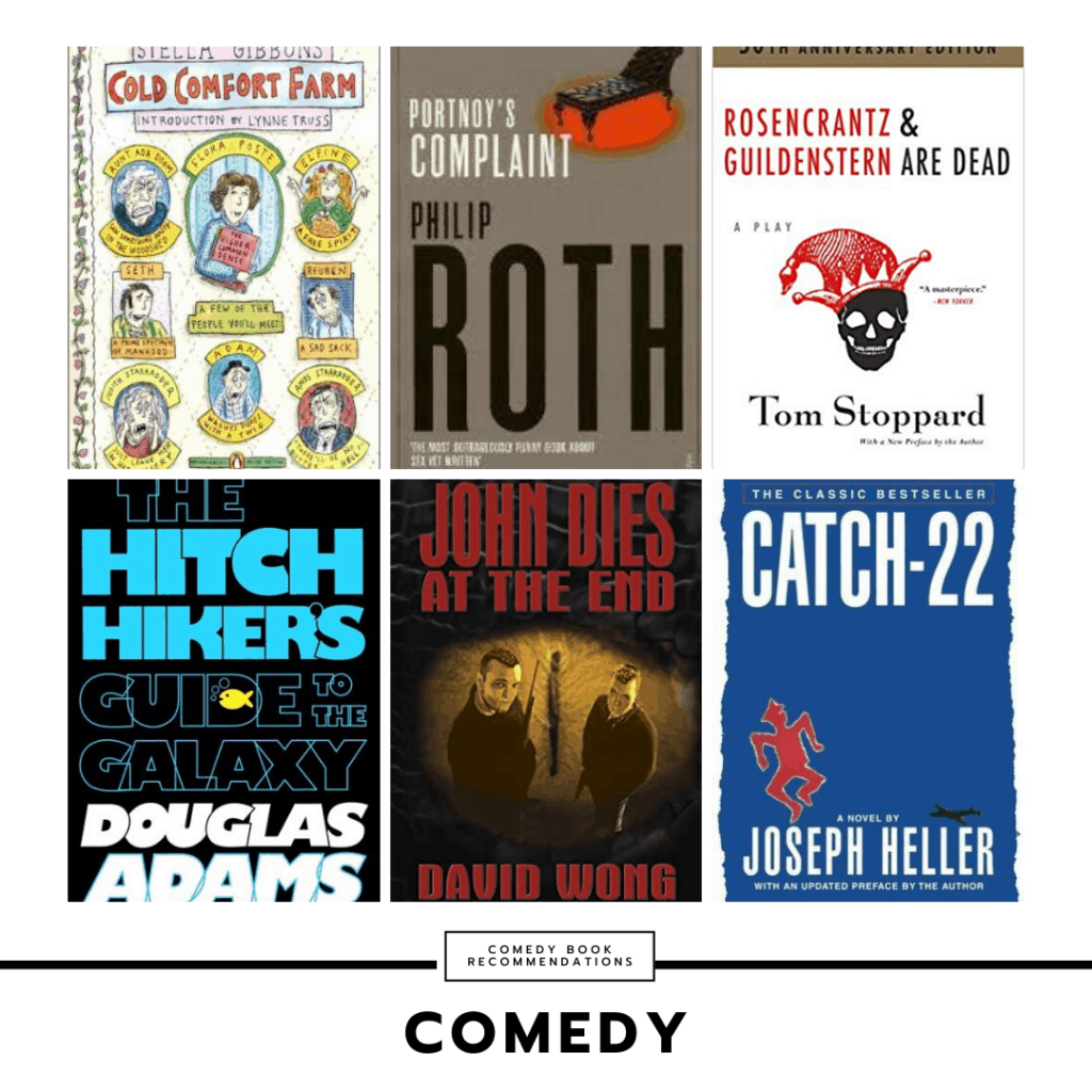 Book recommendations for college students: Comedy books